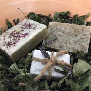 Arganöl-Salzseife mit Lavendel